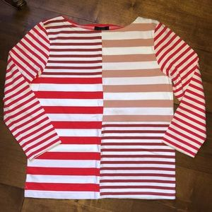 WORN ONCE- awesome striped shirt from Jcrew